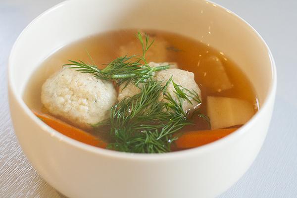 Shelley Hornstein's Matzo Ball Soup | Photo by Maria Zizka