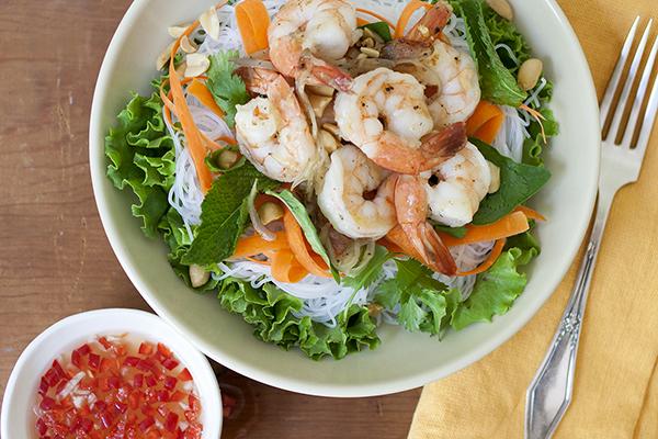 Vietnamese Noodle Salad with Shrimp | Photo by Maria Zizka