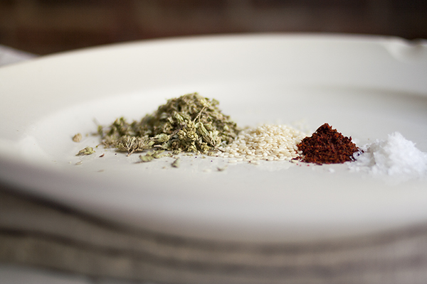 Za'atar Spice Mix Ingredients | Photo by Maria Zizka