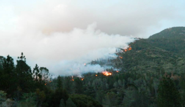 A view of the Aspen Fire burning on July 23.