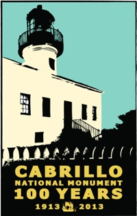 The centennial poster for Cabrillo National Monument.