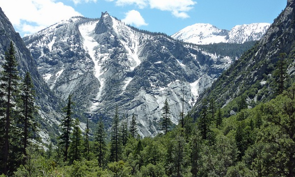 A view from the trail to Mist Falls in the Kings Canyon National Park's Cedar Grove region. The road to the area has closed for the season.