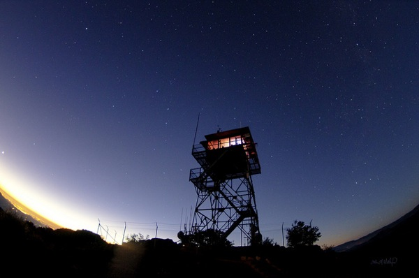 A fire lookout tower near Lake Morena in Cleveland National Forest.