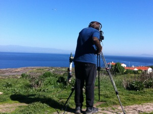 Joe Wysocki filming on Anacapa Island. | Photo: Courtesy NPS