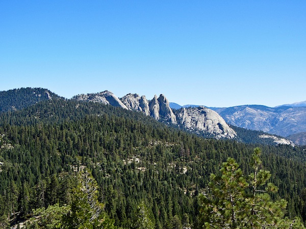 The Needles, as seen from Dome Rock in Giant Sequoia National Monument.
