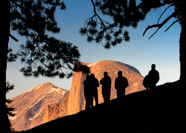 A view of Half Dome from near Glacier Point in Yosemite National Park.