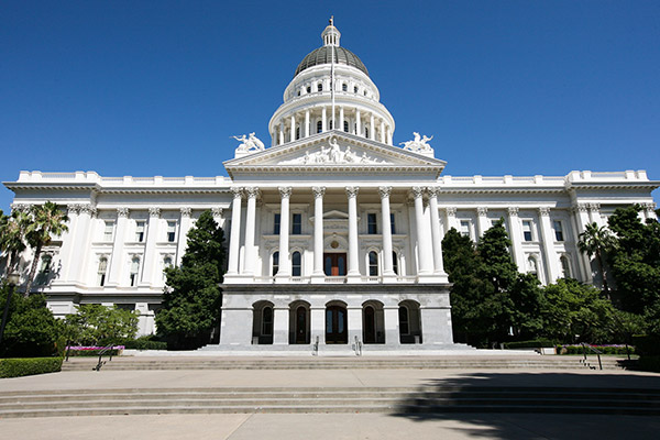 The California State Capitol building in Sacramento, Calif.
