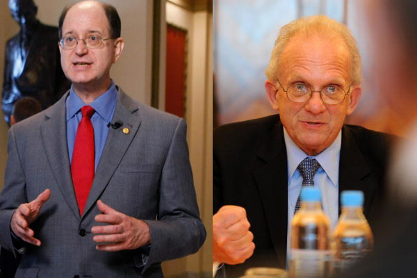 Congressmen Brad Sherman (left) and Howard Berman (right) are vying for the same district after redistricting pitted them against each other | Photos: Mark Wilson/Getty Images (Left) and Natalia Kolesinkova/AFP/Getty Images)