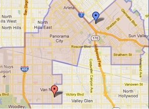 Map of Los Angeles City Council District 6. | Image: Courtesy L.A. City Clerk