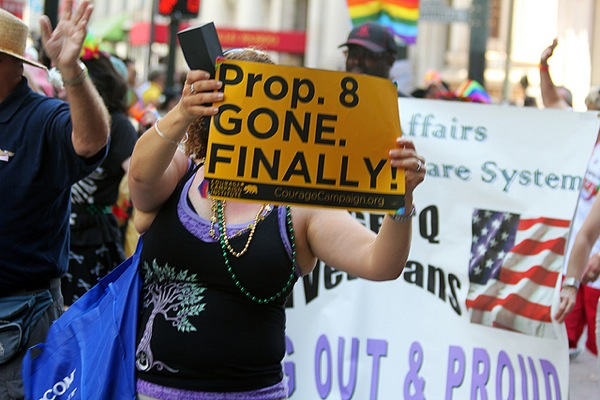 A sign seen at SF Pride in June 2013.