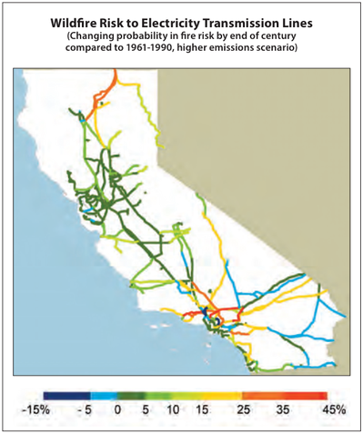 Wildfire Risk to Transmission Lines. | Image: Courtesy California Energy Commission