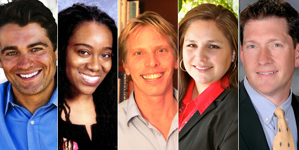 2013 Awardees: Martin Reisert, I'Asha Warfield, Sebastien Paul De Clerck, Veronica Marquez, and David Goldenberg.