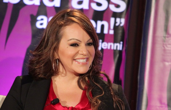 Singer Jenni Rivera speaks during a press tour in 2011. | Photo by Frederick M. Brown/Getty Images