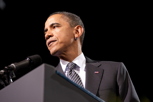 President Barack Obama in Los Angeles at a 2012 rally.