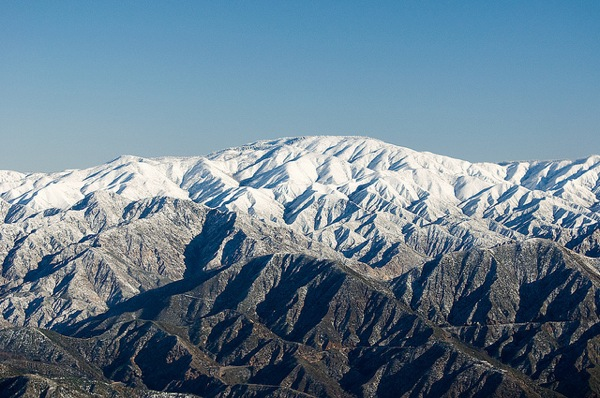 Snow on the San Gabriel Mountains in a 2011 photo.