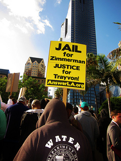 At an L.A. protest in 2012.