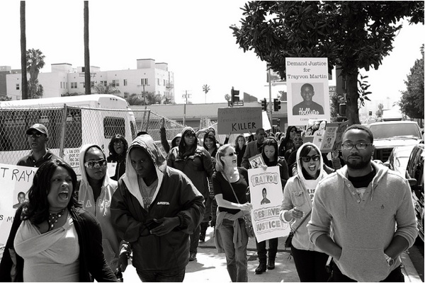 At the Million Hoodie March, a peaceful rally for Trayvon Martin in March 2012.