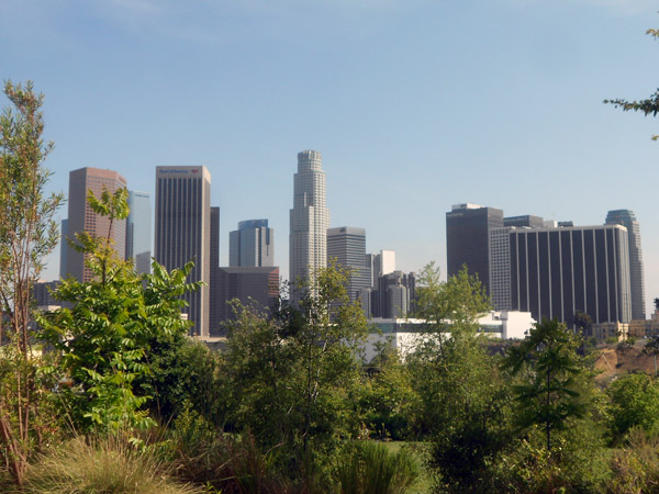 Vista Hermosa Natural Park near Downtown Los Angeles not only offers a closeup view of the L.A. skyline, but a chance for people to have an even closer encounter with California native plants.