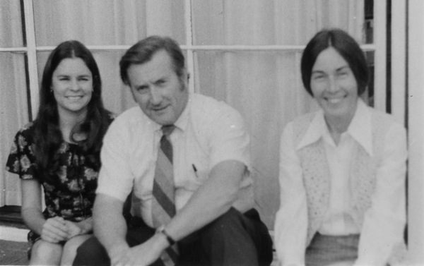 Susan Schrepfer (left) with Forest History Society colleagues Elwood Maunder and Barbara Holman in 1975. | Photo: Courtesy of Forest History Society, Durham NC