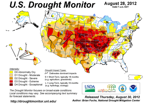 Drought map from the World Bank report