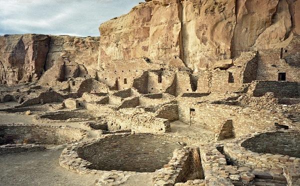 Pueblo Bonito in Chaco Culture National Historic Park.