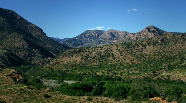 Looking into the Gila Wilderness in New Mexico.