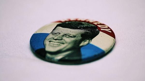 JFK button.