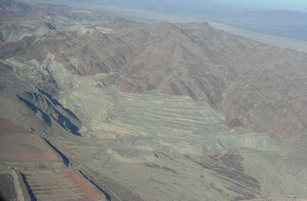 Aerial photo of Eagle Mountain mine as seen from the east. | Photo: Chris Clarke/KCET