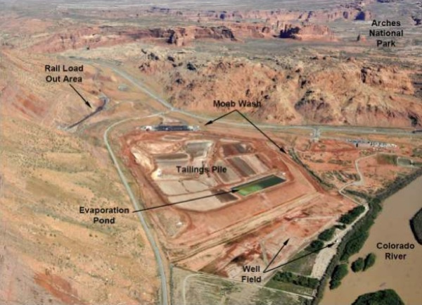 Moab site features, view looking north. | Image: Courtesy U.S. Department of Energy