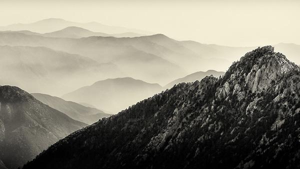 The San Gabriel Mountains.