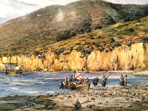 Cabrillo-San-Diego-Bay-arrival-painting