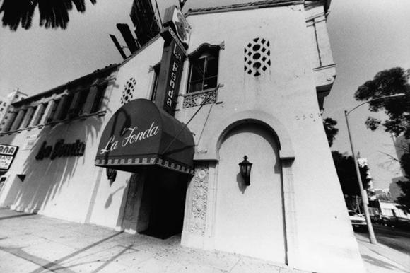 La Fonda Restaurant in the 1990s. Photo courtesy of Los Angeles Public Library.