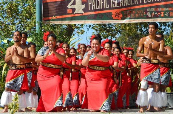 Samoa Matalasi performing at the 4th Pacific Islander Festival in 2011.