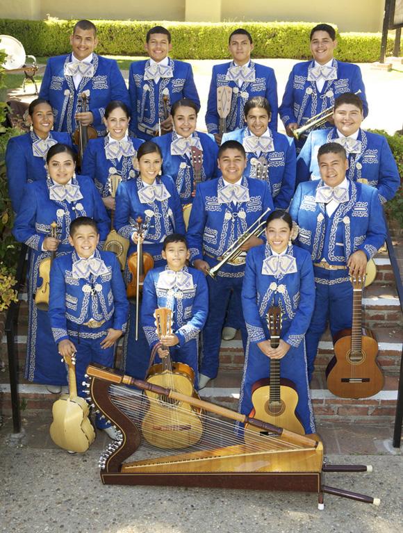 Mariachi Tesoro de San Fernando. Photo courtesy of City of San Fernando Mariachi Master Apprentice Program (MMAP).
