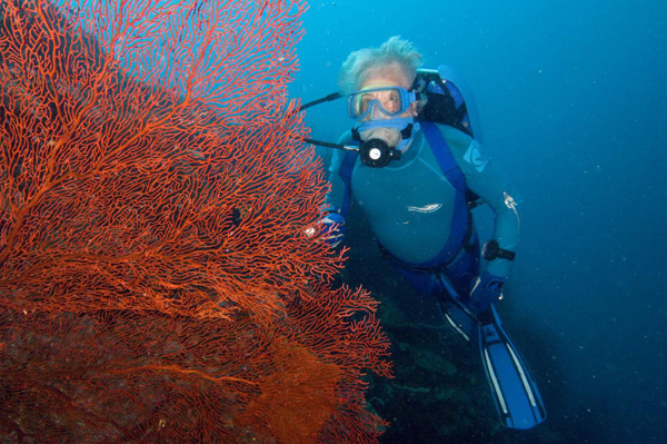 Jean-Michel Cousteau, host of the new KCET series 'Ocean Alive.'