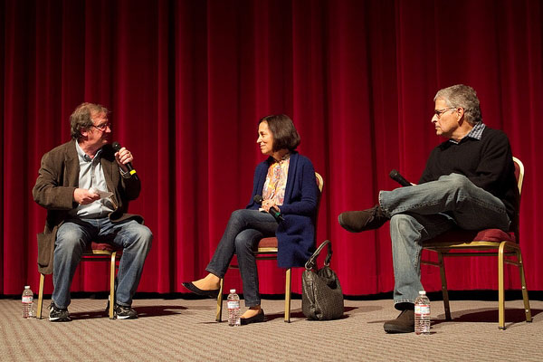 Pete Hammond with Meg and Lawrence Kasdan