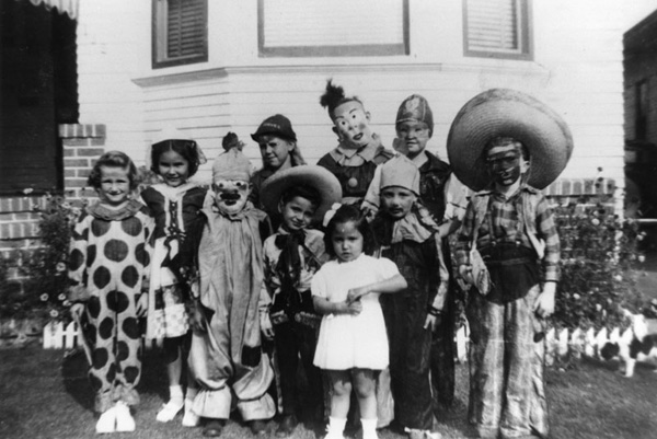 Children in costumes at Halloween party, 1944. | Image: courtesy of LAPL.