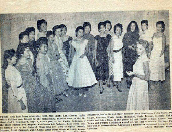 As with the Miss America pageant, showcasing talent of the queen candidates is the main focus for Nisei Week | Document courtesy of June Aochi