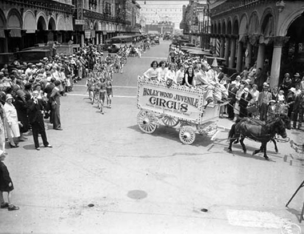 Parades of all kinds went through Weingart Avenue and the new Venice of America. | Photo courtesy of Los Angeles Public Library