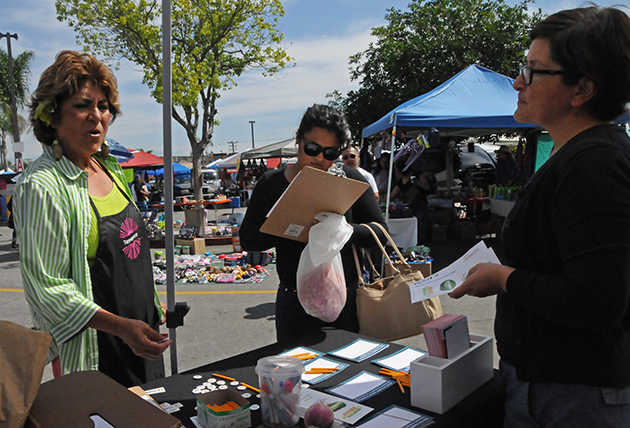 KCET conducting outreach at the South El Monte High School Swap Meet