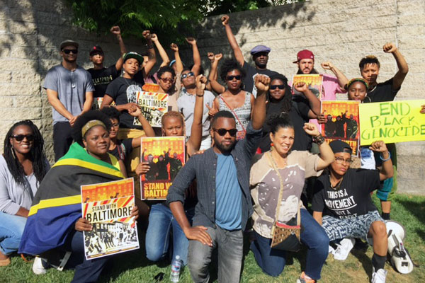 Black Lives Matter Los Angeles members. Photo by: Cal State LA's Pan-African Studies Department