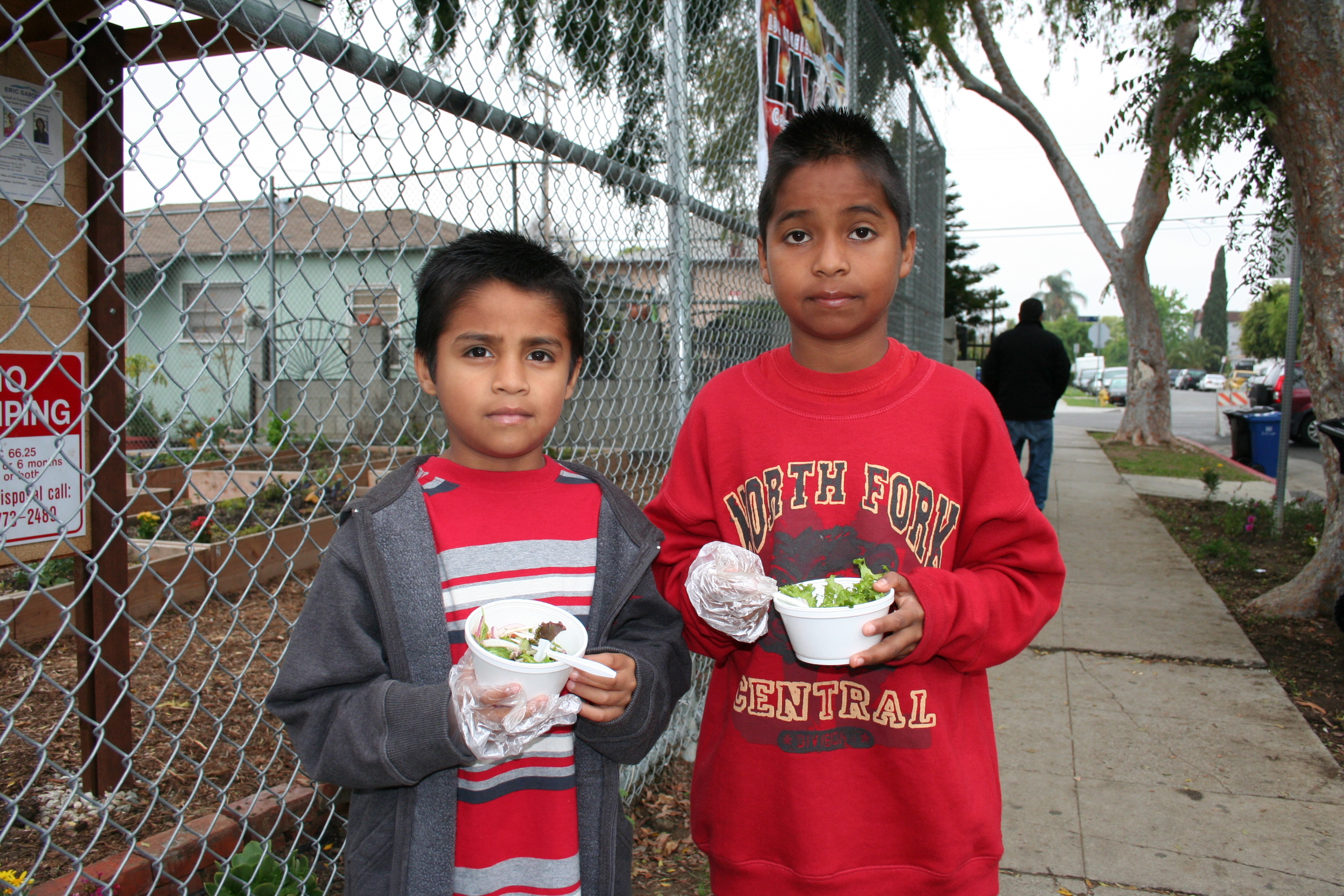 Neighborhood kids at the Glassell Park Community Garden