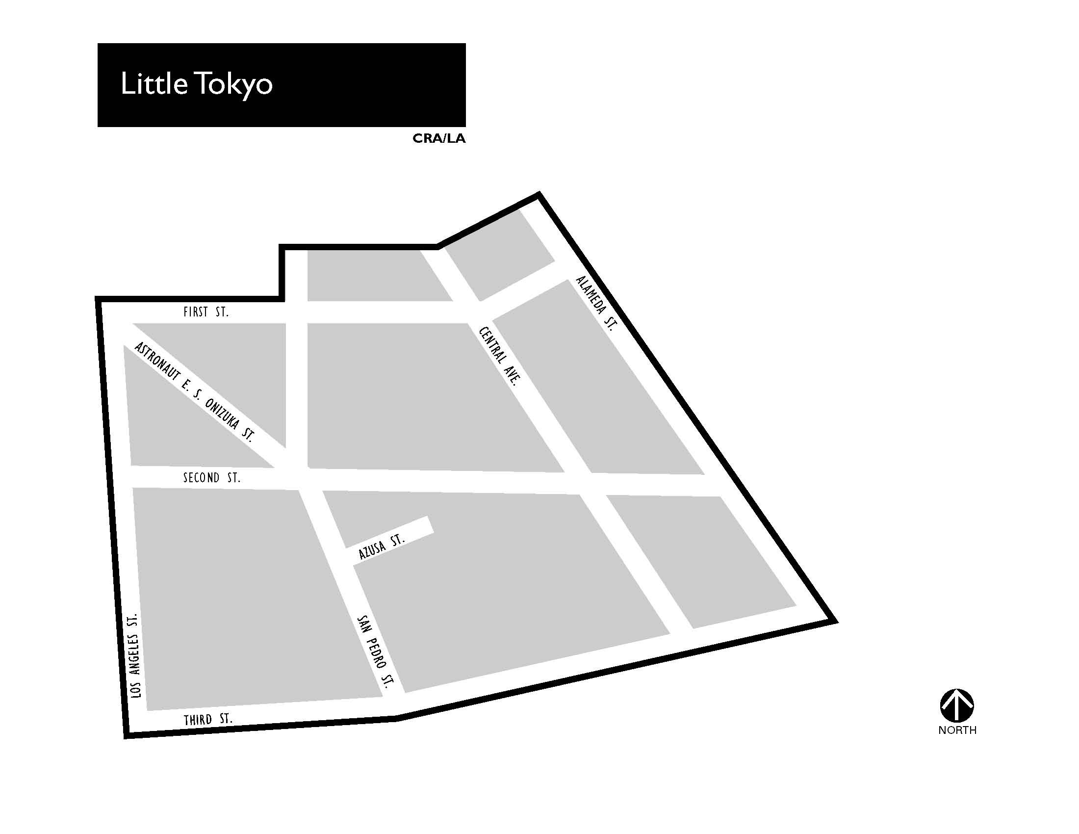 The Community Redevelopment Agency project map for Little Tokyo. Photo courtesy of the CRA website.