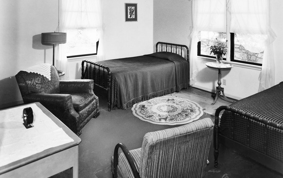Contrary to standard treatment at most sanitariums at the time, Richards made sure that her patients lived in a comfortable environment. Photo courtesy of Friends of Rockhaven.