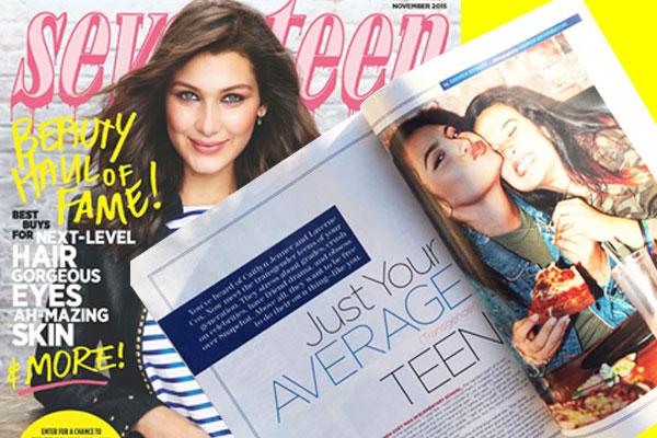 A teenage girl's dream: Zoey makes into Seventeen Magazine. Photo from Barba family scrapbook.