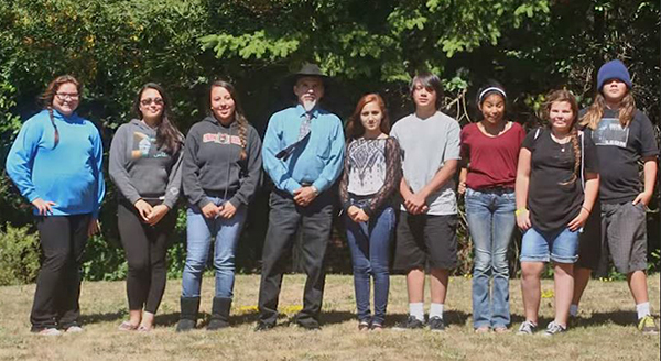 Yurok Youth who produced the video along with Thomas O'Rourk, Yurok Tribe Chairman