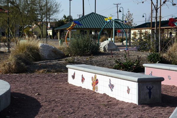 Gibson Mariposa Park implements recreation with sustainable, water-conserving gardening techniques.