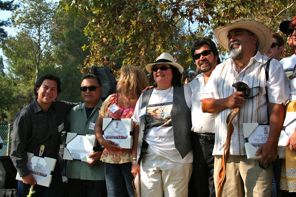 Judy Baca and the artists that helped create the mural