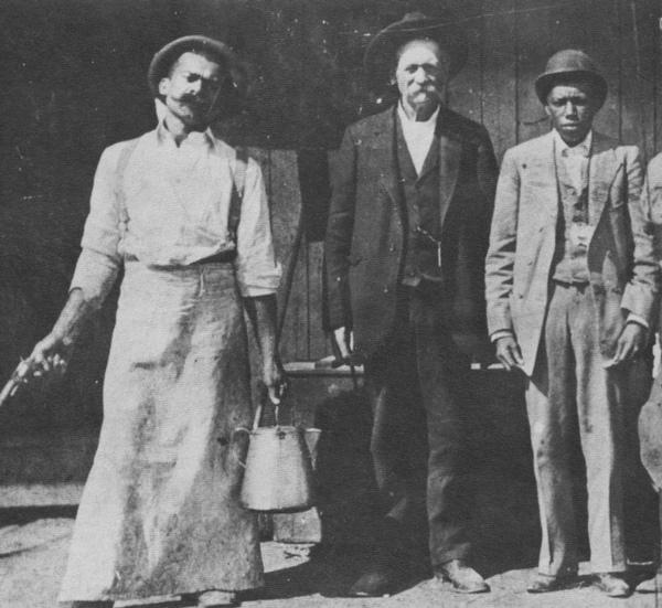 Lucky Baldwin with employees ca. 1888