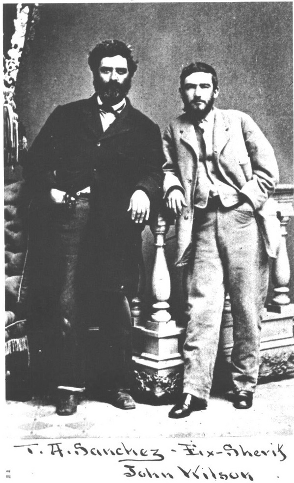 Portrait of Tomás and friend John Wilson.